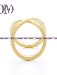 OM® Gold-tone Double Infinity Ring