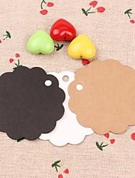 Etiquettes ( Blanc/Brun/Noir ) Thème de plage/Thème de jardin/Thème floral/Thème classique - Papier cartonné