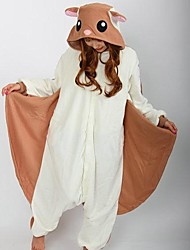 Kigurumi Pajamas Squirrel Mouse Leotard/Onesie Festival/Holiday Animal Sleepwear Halloween White Patchwork Polar Fleece Kigurumi For