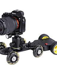 MS01 Motorized Push Cart Dolly Tractor with DW03 Video Slider Dolly Tracker for Cameras Camcorder DV