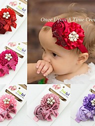 1pc European Baby's Ribbon Roses Hair Band