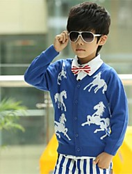 Boy's Horse Printing Sweaters