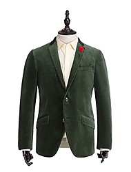 Jade Green  Plain   Tailored Fit  Suit   Jacket  In  100%Cotton