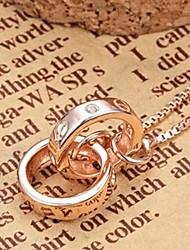 Style européen 925 distribution de pendentif en argent 45cm collier en argent sterling de la mode des femmes