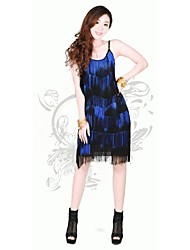 Latin Dance Women's Fashion Tassel Performance Dress(More Colors)