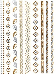 1PC Gold Glitter Tattoos Golden Temporary Tattoos Tattoo Stickers New York Fashion Trend for Body Art(27*14.5*0.1)