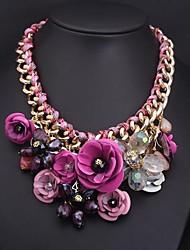 hyperbole fleurs alliage de necklac des femmes