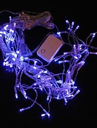 3m 9.6W Natale Flash 100-led lampada luce di striscia di luce blu (spina di UE, ac 220v)