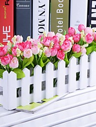 Branch Polyester / Plastic Tulips Tabletop Flower Artificial Flowers 30 x 13 x 7.5 (11.8'' x 5.1'' x 3'')