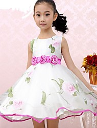 Girl's Fashion Flower Organza Party Pageant  Kids Clothing Princess Dresses