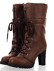 moda lobo atar botas marrón medio