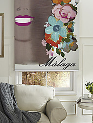 A Lady With Flowers Roller Shade