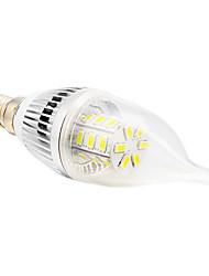 5W E14 / E26/E27 LED Candle Lights CA35 24 SMD 5730 350 lm Warm White / Cool White AC 110-130 V