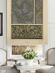 Pentas Lanceolata Flowers Pattern Roller Shade