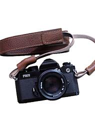 dslr funper para cámara réflex correa hecha a mano retro marrón