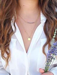 forme europeo de las mujeres con lentejuelas collar de turquesa de doble capa