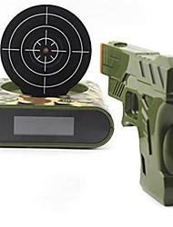 1 Set Gun Alarm Clock Shoot Alarm Clock Gun O'Clock Lock N Load Target Alarm Clock
