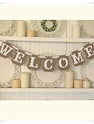 """WELCOME"" Shabby Chic Wedding Party Bunting Signs"