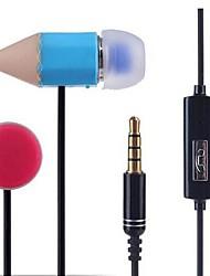 mp3 lápis 3,5 milímetros com fones de ouvido de trigo / mp4 / pc fone de ouvido (cores sortidas)