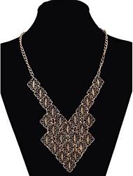Women's Vintage Geometric Multi-level Alloy Necklace