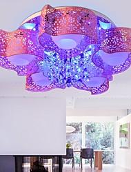Putian™  Crystal LED Flush Mount Modern Creative Pink Painting Metal