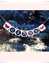 "Wedding Décor ""CARDS"" Banner  Celebration Garlands Decrocations"