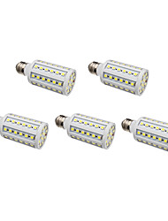 E26/E27 LED Corn Lights 60 SMD 5050 630 lm Natural White AC 220-240 V 5 pcs