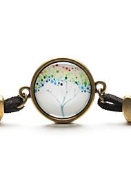 pulsera cabujón de cristal árbol de arte colgante de collar de la vida del árbol joya paz tiempo (1 pieza)
