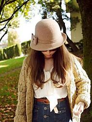 Women Wool Bowler/Cloche Hat , Vintage/Casual Winter