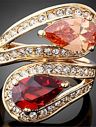 Statement Rings Zircon Cubic Zirconia 18K gold Simulated Diamond Alloy Fashion Luxury Jewelry Screen Color Jewelry Party 1pc