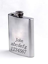 balão de aço inoxidável presente personalizado de 7 oz prata