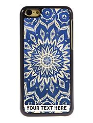 персонализированные телефон случае - синий лотос дизайн корпуса металл для iPhone 5с