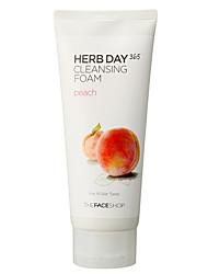 лицо магазина травы 365-й день очищения персик пена - 3 шт