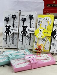 SIBL M19 3.5mm In-ear Setero Supper Cute Violence bear Earphone for iphone6&Other Cellphones