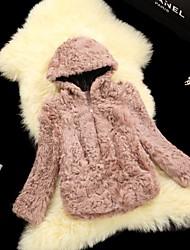 Fur Coats Women's Casual Lamb Wool Hat Fur Jacket(More Color)