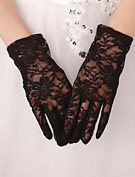 Wrist Length Fingertips Glove Lace/Tulle/Polyester Bridal Gloves