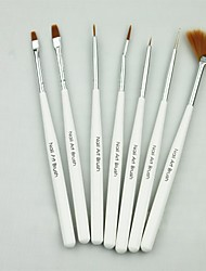 7pcs Light White Handle Multifunctional Nail Use Brush Set