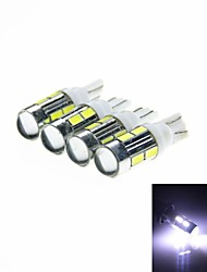 T10 5W 450lm 10-SMD 5630 LED White  Light Car Clearance / Signal Lamps (DC 12V /4PCS)