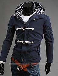 HUIZI Men's Fashion Korea Style Hoodie Thermal Coat