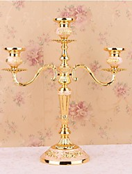 "Happylife ™ 10""H Three Western-Style Candlestick  Hotel Lives At The Wedding Three Candlesticks  Iron Candle Holder"