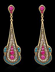 Earring Stud Earrings / Drop Earrings Jewelry Women Imitation Pearl / Rhinestone / Gold Plated 2pcs Silver
