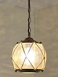 Flush Mount 1 Light Classical Droplight Restoring Ancient Ways Antique Brass Spray Lacquer Glass Metal