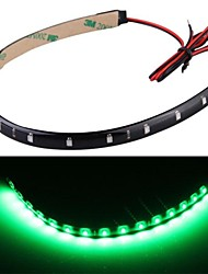 4PCS car Led Strip light Waterproof 12V Green Light 30cm 15 LEDs Neon Flexible Strips Bar Car Motor Truck