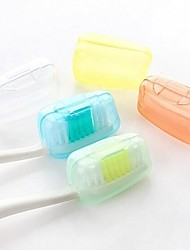 Bathroom Gadgets,5 PCS Family Candy-colored Bacteria Travel Toothbrush(Random Color)