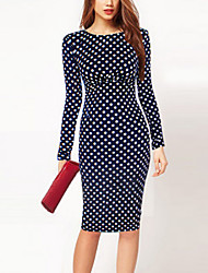 Ousmei Women's Vintage  Polka Dot Dress