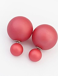 Women's Clearance Fashion Large and Small Two Balls Stud Earrings