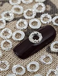 50шт 3d блестящие серебряные Nail Art ювелирные изделия сплава круглое металлические ногти vernish маникюр украшения