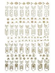 nail art douradas adesivos decalques moda garra unha tema vinheta rock para embelishing manicure diária