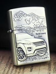 Erde Gold Welt Luxus-Autos Muster Metallrelief Öl leichter Stil Zufalls