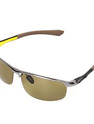 Óculos de Sol Homens's Clássico / Retro / Vintage / Polarized Retângular Cinzento Escuro Óculos de Sol / Condução Moldura Metade